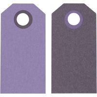 Etiquette, dim. 6x3 cm, 250 gr, violet/violet foncé, 20 pièce/ 1 Pq.