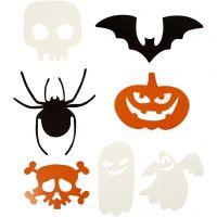 Découpages Halloween, dim. 5-10 cm, 180 gr, 50 pièce/ 1 Pq.