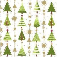 Serviettes de table, sapin de Noël, dim. 33x33 cm, 20 pièce/ 1 Pq.