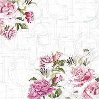 Serviettes de table, roses, dim. 33x33 cm, 20 pièce/ 1 Pq.