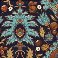 Serviettes de table, automne, dim. 33x33 cm, 20 pièce/ 1 Pq.