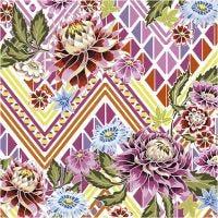 Serviettes de table, fleurs, dim. 33x33 cm, 20 pièce/ 1 Pq.