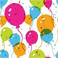 Serviettes de table, Ballons, dim. 33x33 cm, 20 pièce/ 1 Pq.