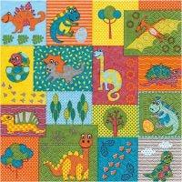 Serviettes de table, Bébés animaux, dim. 33x33 cm, 20 pièce/ 1 Pq.