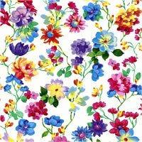 Serviettes de table, Prairie fleurie, dim. 33x33 cm, 20 pièce/ 1 Pq.