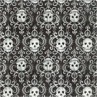 Serviettes de table, crânes, dim. 33x33 cm, 20 pièce/ 1 Pq.