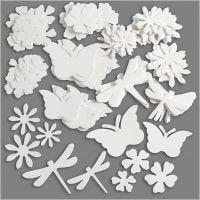 Figurines estivales, dim. 4,5-12 cm, 240 gr, blanc, 362 pièce/ 1 Pq.