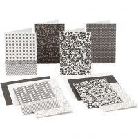 Cartes vierges avec enveloppes, dimension carte 10,5x15 cm, 220 gr, 16 pièce/ 1 Pq.