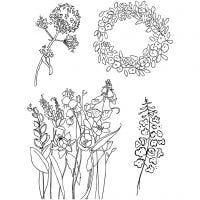 Tampons transparents, printemps, 11x15,5 cm, 1 flles