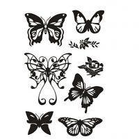 Tampons transparents, papillons, 11x15,5 cm, 1 flles