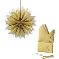 Étoile en sac en papier, 170 gr, or, 1 set