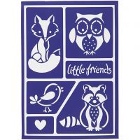 Pochoir souple, little friends, 21x14,8 cm, 1 pièce