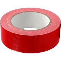 Ruban tissu, L: 38 mm, rouge, 25 m/ 1 rouleau