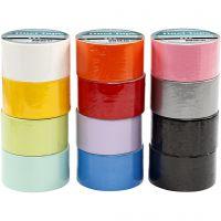 Ruban adhésif, L: 48 mm, couleurs assorties, 12x5 m/ 1 Pq.