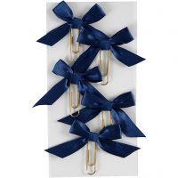 Trombones métalliques, dim. 40x70 mm, bleu, 5 pièce/ 1 Pq.