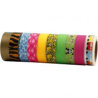 Ruban adhésif Washi Tape, L: 15 mm, 10x10 m/ 1 Pq.