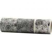 Ruban adhésif Washi Tape, L: 50 mm, 3x5 m/ 1 Pq.