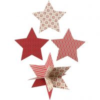 Étoiles 3D, d: 15 cm, 300 gr, 3 pièce/ 1 Pq.