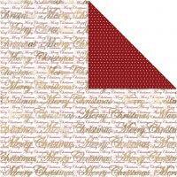 Papier Design, Joyeux Noël et points, 30,5x30,5 cm, 180 gr, or, 3 flles/ 1 Pq.