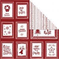 Papier Design, cadres avec texte et doodles, 30,5x30,5 cm, 180 gr, 5 flles/ 1 Pq.