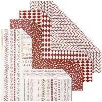 Papier Origami, dim. 15x15 cm, 80 gr, rouge, 40 flles/ 1 Pq.