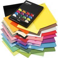 Papier cartonné Color Bar, A4, 210x297 mm, 250 gr, couleurs assorties, 16x10 flles/ 1 Pq.