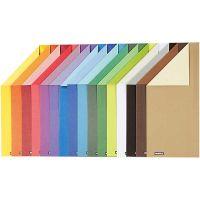 Papier cartonné Color Bar, A4, 210x297 mm, 250 gr, 16 flles ass./ 1 Pq.