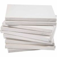 Châssis entoilés, prof. 1,6 cm, A4, dim. 21x29,7 cm, 280 gr, blanc, 40 pièce/ 1 Pq.