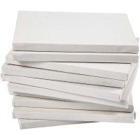 Châssis entoilés, prof. 1,6 cm, dim. 18x24 cm, 280 gr, blanc, 40 pièce/ 1 Pq.