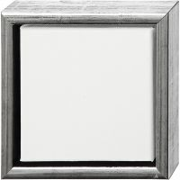 Châssis ArtistLine, prof. 3 cm, dim. 19x19 cm, argent antique, blanc, 1 pièce