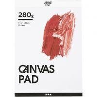 Bloc de papier Canvas, A4, 280 gr, blanc, 10 flles/ 1 pièce