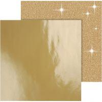 Papier Design, 30,5x30,5 cm, 120+128 gr, or, 2 flles/ 1 Pq.