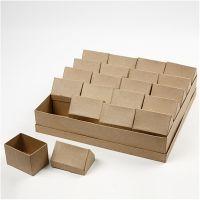 Boîtes Maisons, H: 10,5 cm, dim. 6x8,5 cm, 20 pièce/ 1 Pq.