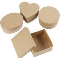 Boîtes moyennes, H: 5 cm, d: 10-12 cm, 4 pièce/ 1 Pq.
