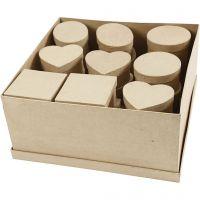 Boîtes moyennes, H: 5 cm, d: 10-12 cm, 28 pièce/ 1 Pq.
