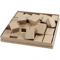Boîtes , H: 3,5 cm, dim. 5x7 cm, 24 pièce/ 1 Pq.