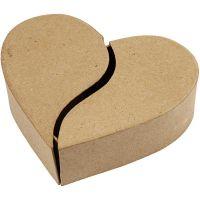 Boîte coeur, H: 5 cm, d: 16,5 cm, 1 pièce