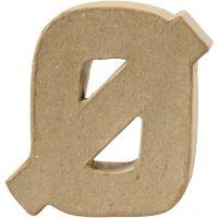 Lettre, Ø, H: 10 cm, ép. 2 cm, 1 pièce