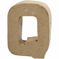 Lettre, Q, H: 10 cm, L: 7,8 cm, ép. 1,7 cm, 1 pièce