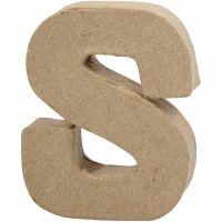 Lettre, S, H: 10 cm, L: 8 cm, ép. 1,7 cm, 1 pièce