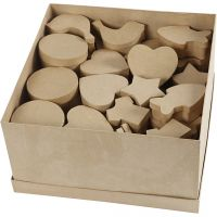 Boîtes , dim. 6-11 cm, 63 pièce/ 1 Pq.