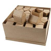 Boîtes maisons, H: 10,5 cm, dim. 6x8,5 cm, 40 pièce/ 1 Pq.