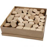 Petites boîtes, H: 3 cm, d: 4-6 cm, 144 pièce/ 1 Pq.