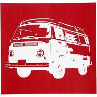 Pochoirs, camionnette VW, 20x22 cm, 1 flles