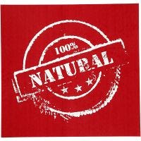 Pochoirs, 100% natural, 20x22 cm, 1 flles