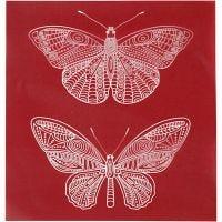 Pochoirs, papillon, 20x22 cm, 1 flles