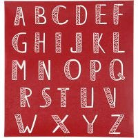 Pochoirs, alphabet, 20x22 cm, 1 flles