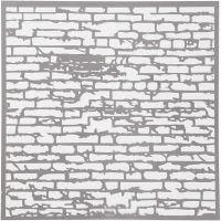Pochoir, mur de briques, dim. 30,5x30,5 cm, ép. 0,31 mm, 1 flles