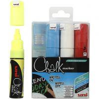 Feutre à craie, chalk, trait 8 mm, couleurs assorties, 4 pièce/ 1 Pq.