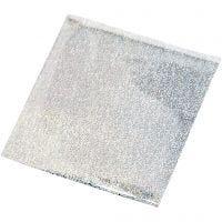Film décoration, 10x10 cm, argent, 30 flles/ 1 Pq.